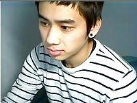 Cute asian boy masturbating