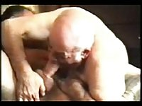 Old man sucked mature daddies big dick