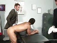 Hot Office Trio Fucking & Cumming