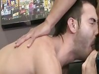 Horny mates drill in doggy style in the bedroom