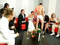 Horny wedding reception turns bi