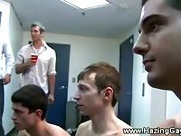 Dudes getting hazed in the showers