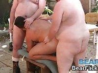 Hardcore gay bear outdoor orgy