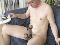 Weird Guy Stuffing His Cock