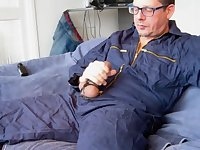 Guy Using Device For Wanking