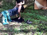 Gay on forest adventure with masturbation