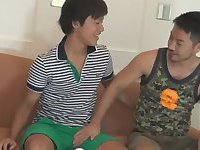 Asian Guys Making Out