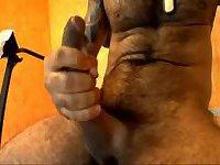 Muscle Latin Stud Jerking Big Cock