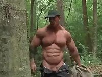 Sexy Muscle Guys Fucking in a Wood