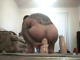 Triple coition with dildo