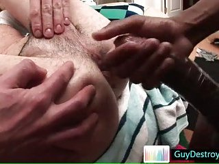 Guy gets his tight anus fucked hard