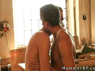 Cute guys kissing & stripping