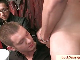 Fourty hungry gay men and one cock