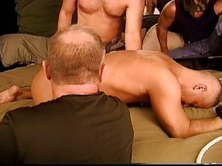 4 man CBT orgy with dudes and top