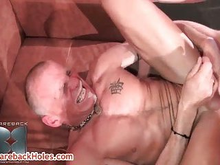 Sage Daniels and Tom Trojan in gay bareback clip