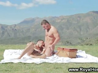 Soft calm gay sex in the outdoor