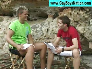 Hot gay crazy hunk gets quizzed