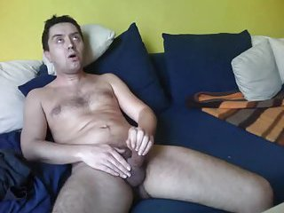 Aroused Mature Man Beating Off