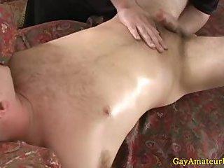Homo jock gets his ass fingered